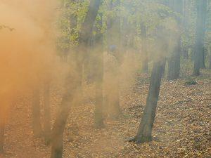 Obľúbeným spestrením hry sú napríklad dymovnice. Prvý krát sme ich vyskúšali na tejto akcii na Morave.